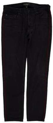 Burberry Low-Rise Side Stripe Jeans