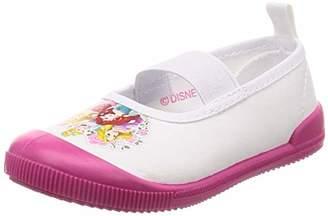 Disney (ディズニー) - [ディズニー] 上履き プリンセス 15-20cm 女の子 333100987 ホワイト/ピンク 17 cm 2E