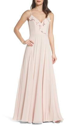 Paige Hayley Occasions Ruffle Chiffon Gown