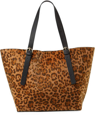 Neiman Marcus Legacy Leopard-Print Shoulder Tote Bag