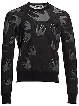 McQ Men's Pointelle Swallow Crewneck Sweater