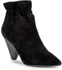 Ash Dafne Rouched-Ankle Suede Booties