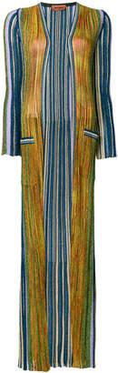 Missoni multi-stripe floor length cardigan