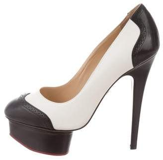 Charlotte Olympia Spectator Dolly Pumps