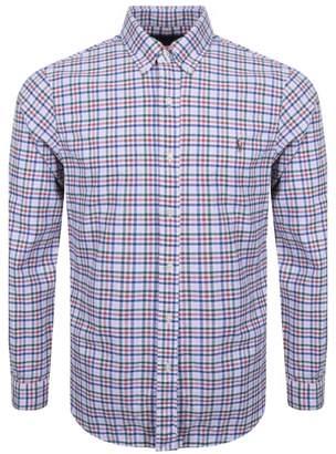 Ralph Lauren Checked Linen Shirt Pink