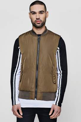 boohoo Bomber Neck Sleeveless Gilet