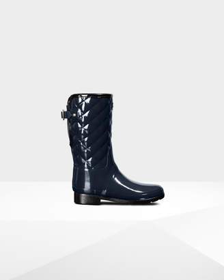 Hunter Women's Refined Adjustable Short Quilted Gloss Rain Boots