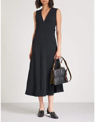 Victoria Beckham Cutout back crepe midi dress
