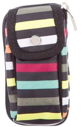 Sonia Rykiel Striped Belt Zip Pouch