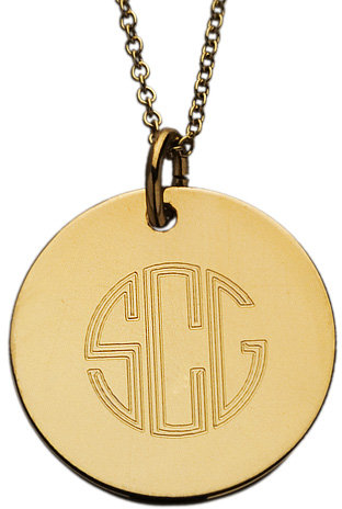 Sonya Renee Circle Monogram Disk