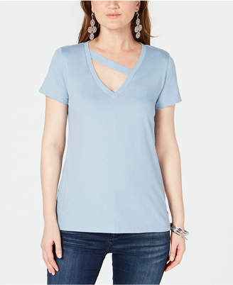 INC International Concepts I.n.c. Cutout V-Neck T-Shirt, Created for Macy's