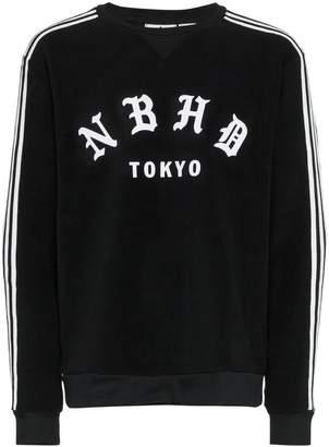 adidas NBHD printed and stripe detail sweatshirt