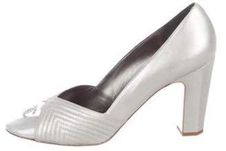 Chanel Strass CC Quilted Cap-Toe Pumps