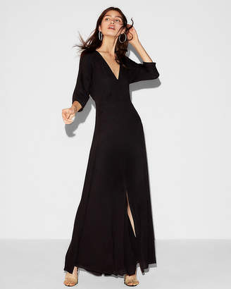 Express Deep V-Neck Dolman Maxi Dress