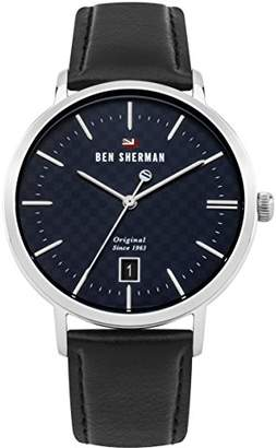 Ben Sherman Men's 'The Dylan Heritage' Quartz Stainless Steel and Leather Casual Watch