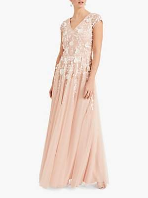 Phase Eight Henriette Flower Maxi Dress, Pink