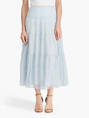 79b0e8442a Ralph Lauren Floral Georgette Peasant Skirt