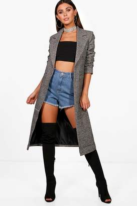 boohoo Petite Tailored Check Coat