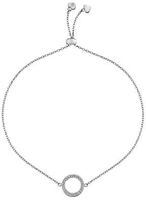 Hot Diamonds Bliss Circle Drawstring Bracelet, Silver