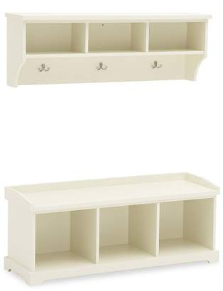 Pottery Barn Samantha Bench & Shelf, Antique White