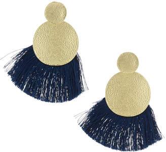 Panacea Double-Circle Fringe Earrings