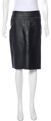 BCBGMAXAZRIA Knee-Length Leather Skirt