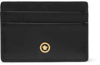 Versace Textured-Leather Cardholder - Men - Black