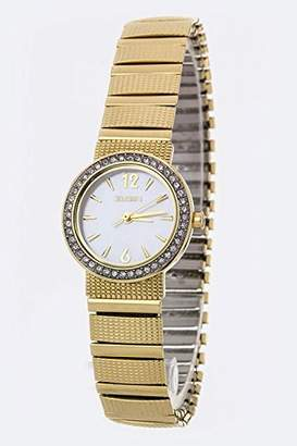 Elgin Women's Watch With Crystal Bezel & Expandable Band EGC9800