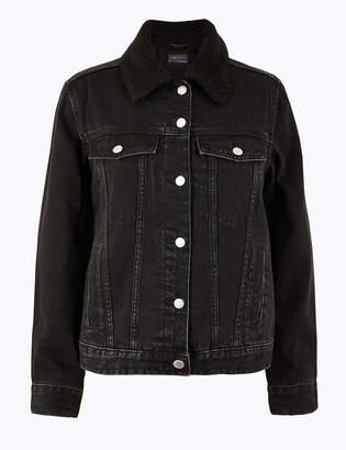 Marks and Spencer Denim Borg Lined Jacket