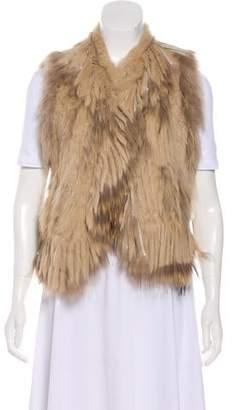Haute Hippie Fur Fringe-Trimmed Vest