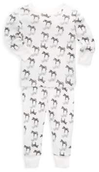 aden + anais Baby's & Toddler's Two Piece Zebra Pajama Set