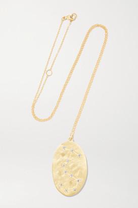 Brooke Gregson - Scorpio 14-karat Gold Diamond Necklace
