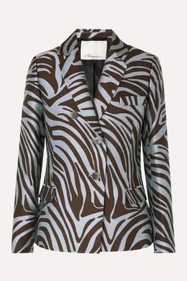3.1 Phillip Lim Cotton-blend Zebra-jacquard Blazer - Zebra print