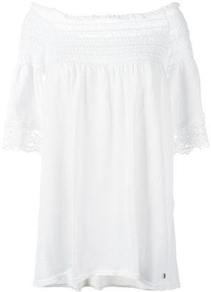 Twin-Set off-shoulder blouse $194.78 thestylecure.com
