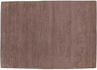 Blue Area Artisan Weaver Midwest Ribbed Wool Rug