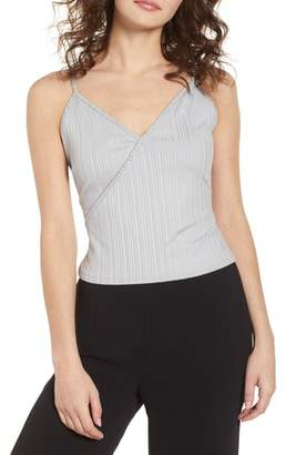 Madison & Berkeley Rib Surplice Camisole