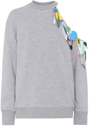 Christopher Kane Embellished cotton sweatshirt