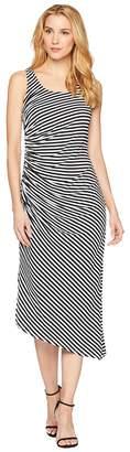 Vince Camuto Sleeveless Side Ruched Amalfi Stripe Dress Women's Dress