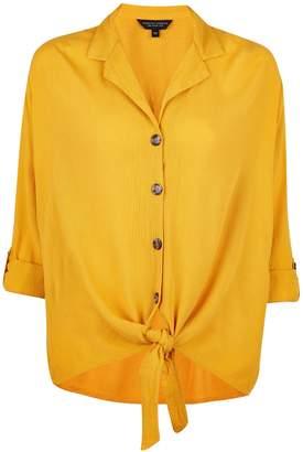 Dorothy Perkins Womens Yellow 3/4 Sleeve Shirt