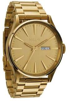 Nixon Sentry Short Sleeve All Gold Watch