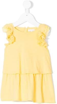 Chloé Kids scallop ruffle trim midi dress
