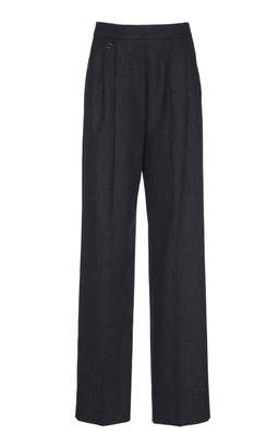 Agnona Wool Cashmere Flannel New Pinces Pant