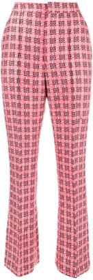 Marni checked brocade trousers