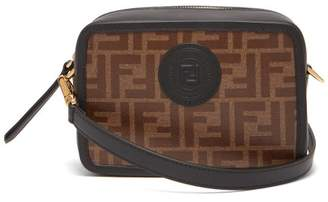 Fendi Camera Mini Leather Cross Body Bag - Womens - Brown Multi