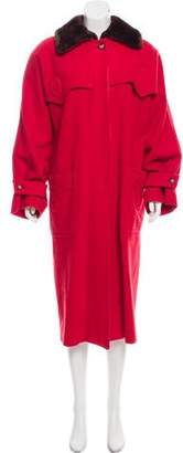 Gucci Shearling-Trimmed Wool Coat