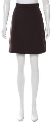 prada Prada A-Line Mini Skirt