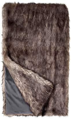 Donna Salyers' Fabulous Furs Donna Salyers Faux Fur Throw - Grey Wolf