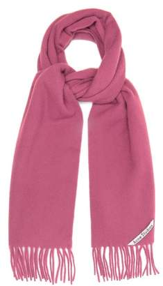 Acne Studios Canada Narrow Tasselled Wool Scarf - Womens - Pink