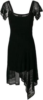 Twin-Set pointelle-knit dress