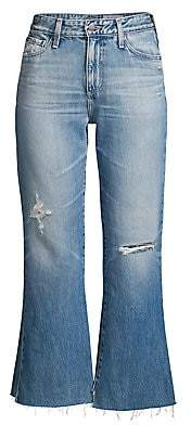 AG Jeans Women's Quinne High Rise Distressed Kick Flare Jeans